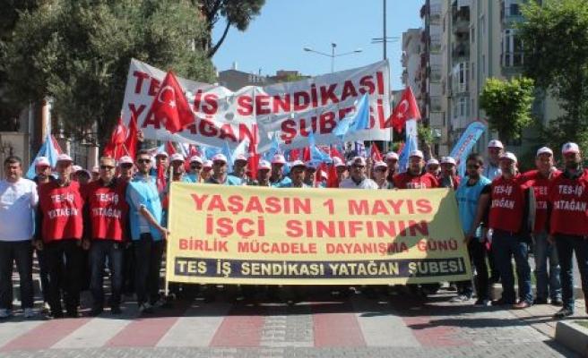 Yatağanlı enerji ve maden işçileri, 1 Mayıs'ta Çanakkale'deydi