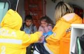 İki öğrenci servisi çarpıştı: 4 öğrenci yaralı