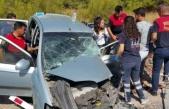 Yatağanlı muhasebecinin kullandığı otomobil TIR'a çarptı