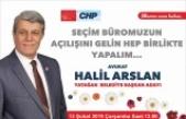 CHP seçim bürosunun açılışı çarşamba günü