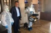 Yatağan Belediyesi'nden koronovirüse dezenfekteli önlem