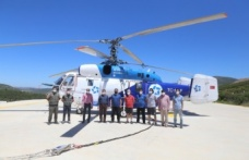 Yangın söndürme helikopteri Yatağan'da konuşlandı