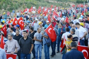 İşçiler dağa çıktı