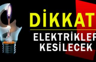 Yatağan'da pazar günü 43 mahallede elektrikler...