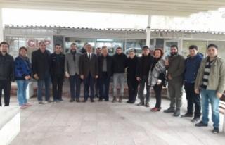 Halil Arslan'a tebrik ziyaretleri sürüyor