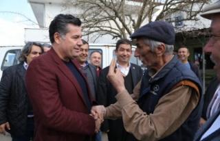 Başkan Kocadon Yatağan Bencik'i ziyaret etti