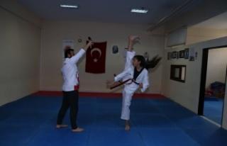 2,5 yıllık genç sporcu, tekvando Türkiye şampiyonu...