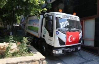 Yatağan Belediyesi'ne yeni çöp kamyonu