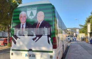 Takım otobüsündeki Gürün ve Gümüş fotoğrafları,...