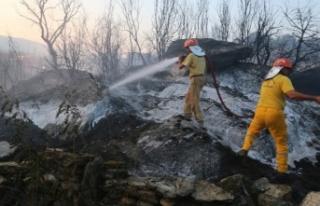 Yava'da ziraat arazisi yangını: 2 dönüm arazi...