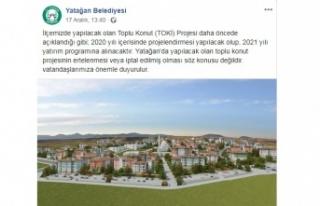 Yatağan'ın TOKİ'si 2021 yatırım programına...
