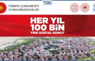 TOKİ'nin 100 Bin Yeni Sosyal Konut Projesi'nde...