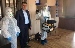 Yatağan Belediyesi'nden koronovirüse dezenfekteli...