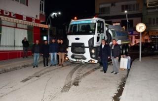 Yatağan Belediyesi, cadde ve sokakları dezenfekte...