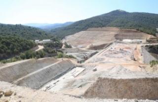 Yatağan'ın ilk barajının yüzde 65'i tamamlandı