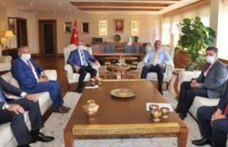 Toksöz, Ankara'da temaslarda bulundu