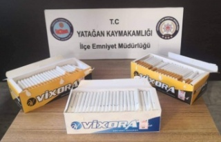 600 adet doldurulmuş sigara ele geçirildi