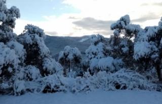 Yatağan ve Kavaklıdereliler, güne karla uyandı