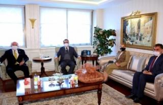 Toksöz, Fatih Dönmez'i ziyaret etti