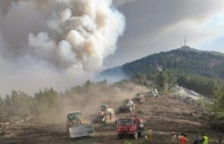 Kavaklıdere'deki yangın Menteşe'ye sıçradı