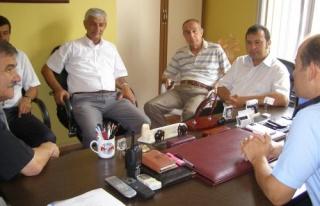 CHP HEYETİ, EMNİYET MÜDÜRÜ'NÜ ZİYARET ETTİ