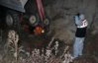 Hisarardı'nda traktör devrildi: 1 ölü, 1 yaralı