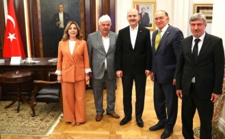 Milletvekili ve başkanlardan İçişleri Bakanı Soylu'ya ziyaret