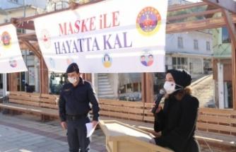Kavaklıdere Jandarmasından koronavirüsle mücadeleye farkındalık etkinliği