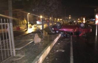 İnönü Bulvarı'nda birbirinden ilginç iki kaza!