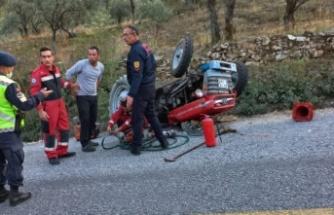 Turgut'ta kaza! 1 yaralı