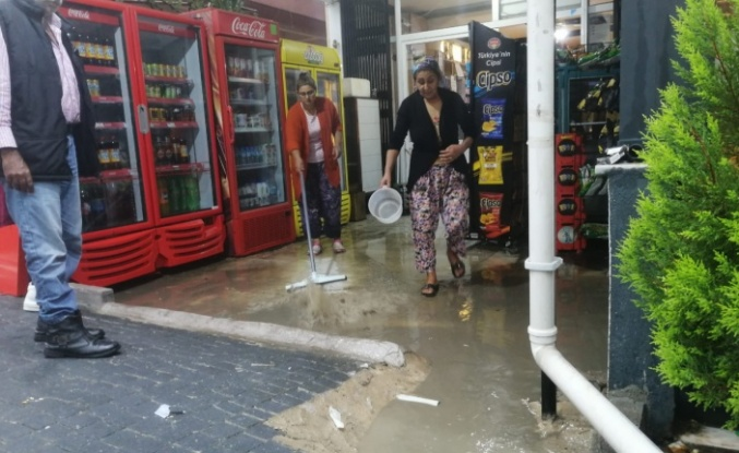 Yatağan'da yağmurla mücadele